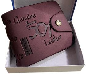 fashlook 501 bi- fold brown wallet