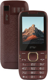 IAIR Basic Feature Dual Sim Mobile Phone with 2800mAh Battery 24 inch Display Screen 08 mp Camera with Big LED Torch