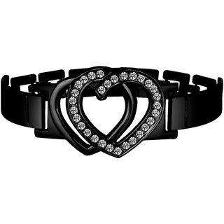 Alan Swiss Black Heart Bracelet