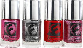 Fauve Sensual Beauty Shinning Effect Nail Paints ( Pack of 4) multi