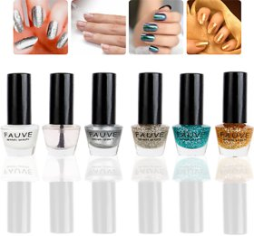 Fauve Sensual Beauty Shinning Effect Nail Paints ( Pack of 6) multi