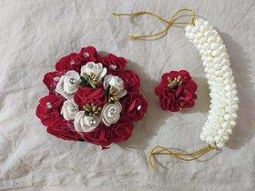 combo 3pcs of hair accessories for Women (hair Gajra,flower Gajra,Flower Acceories)