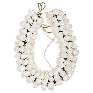 Hair Bun Mogra Flower Gajra for Women in White Pack-01
