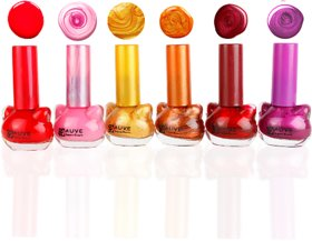 Fauve Shinning Effect Nail Paints ( Pack of 6) multi