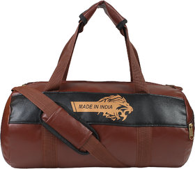 Fashion 7 Leather Gym Bag - Duffel Bag for Fitness Freaks Stylish Printed Sports Bag