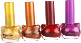Fauve Shinning Effect Nail Paints ( Pack of 4) multi