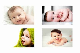 Cute Baby Combo Poster Set of 4 Poster - poster for pregnant women - new born baby poster - baby poster - cute baby poster