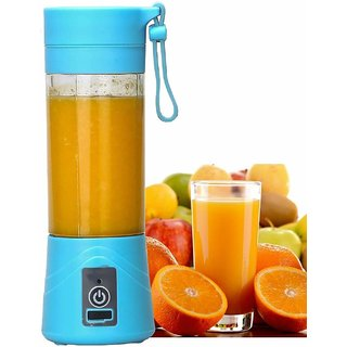Easy Big Deals Portable Electric USB Juicer Bottle Blender Drink Bottle Cup Juice Maker Machine (380 ml)