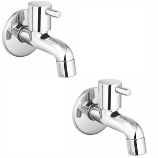 Prestige Dove Bib Cock-Pack Of 2 Chrome Silver platet Tap Faucet Bib Cock Angle Cock Pillar Tap Bathroom Tap