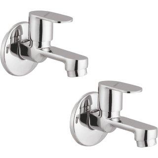 Prestige Ocean Bib Cock-Pack Of 2 Chrome Silver platet Tap Faucet Bib Cock Angle Cock Pillar Tap Bathroom Tap