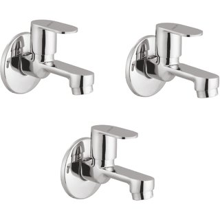 Prestige Ocean Bib Cock-Pack Of 3 Chrome Silver platet Tap Faucet Bib Cock Angle Cock Pillar Tap Bathroom Tap