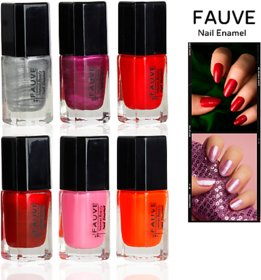 Fauve Glossy Shine Effect Nail Paints ( Pack of 6) multi