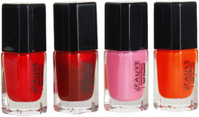 Fauve Glossy Shine Effect Nail Paints ( Pack of 4) multi