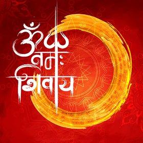 om namah shivaya  Sticker Paper Poster, 12x18 Inch