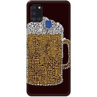 Digimate Hard Matte Printed Designer Cover Case Fo Samsung Galaxy A21s - 3109
