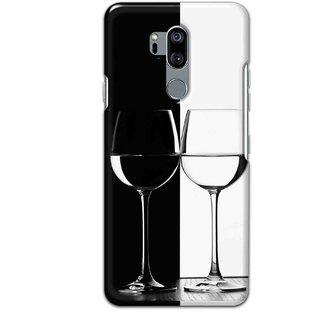Digimate Hard Matte Printed Designer Cover Case Fo LG G7 ThinQ - 0918