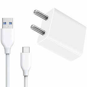 Fast Charger for Oppo A9 (2020)/Oppo A5/ Oppo A9 with 1 Meter USB Type C Cable Data Charging Cable (2.4 Amp, White)