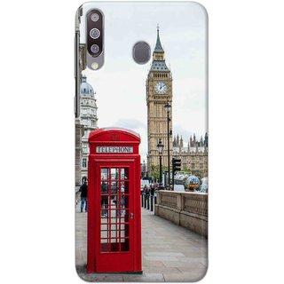 Digimate Hard Matte Printed Designer Cover Case Fo Samsung Galaxy A40s - 3082