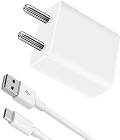 S4 Adaptive Fast Charger with Type C Data Cable for Samsung S8/S9/S9 Plus/S10/S10 Plus C7 Pro/C9 Pro (White)