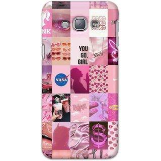 Digimate Hard Matte Printed Designer Cover Case Fo Samsung Galaxy A8 - 3102