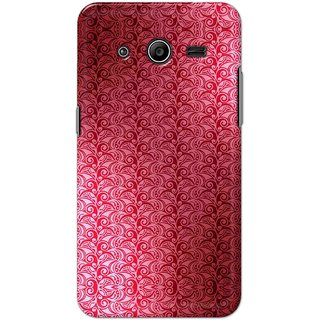 Digimate Hard Matte Printed Designer Cover Case Fo Samsung Galaxy Core 2 (G355) - 0622