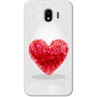 Digimate Hard Matte Printed Designer Cover Case Fo Samsung Galaxy J4 - 0853