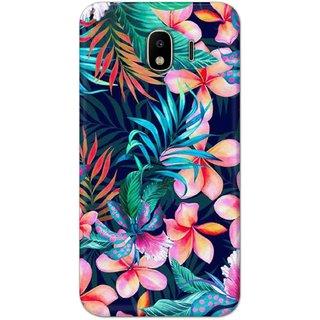 Digimate Hard Matte Printed Designer Cover Case Fo Samsung Galaxy J4 - 3056
