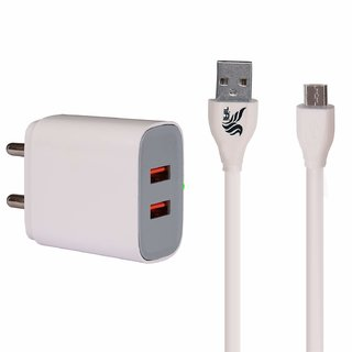 IAIR Compact Fast Charging 26A Wall Charger Adapter with Dual USB Ports C8White