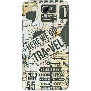 Digimate Hard Matte Printed Designer Cover Case Fo Samsung Galaxy Note 3 Neo(7505) - 0358