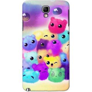 Digimate Hard Matte Printed Designer Cover Case Fo Samsung Galaxy Note 3 Neo(7505) - 0174