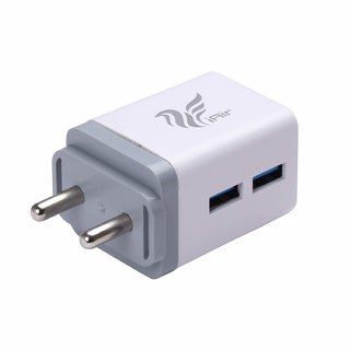 IAIR Compact Fast Charging 24A Wall Charger Adapter with Dual USB Ports C3White