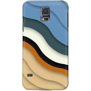 Digimate Hard Matte Printed Designer Cover Case Fo Samsung Galaxy S5 - 3112