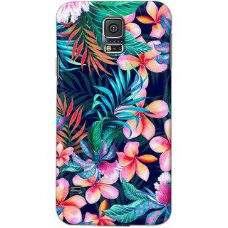 Digimate Hard Matte Printed Designer Cover Case Fo Samsung Galaxy S5 - 3056