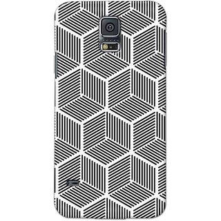 Digimate Hard Matte Printed Designer Cover Case Fo Samsung Galaxy S5 - 3066