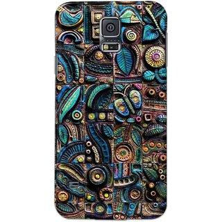 Digimate Hard Matte Printed Designer Cover Case Fo Samsung Galaxy S5 - 3068