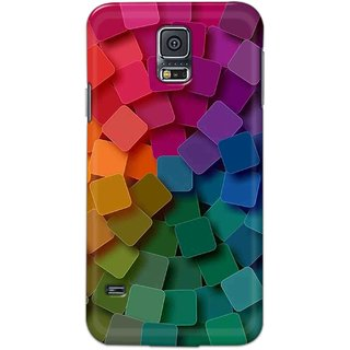 Digimate Hard Matte Printed Designer Cover Case Fo Samsung Galaxy S5 - 3107