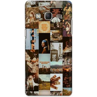 Digimate Hard Matte Printed Designer Cover Case Fo Samsung Z3 - 3054