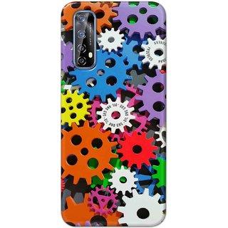 Digimate Hard Matte Printed Designer Cover Case Fo Realme 7 - 3029
