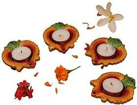 Decorative Clay Diyas Colourful Hand Painted Puja Pooja Diya for Diwali Festival Decoration  Home Decoration