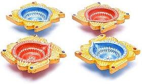 Womaniyaa Decorative Clay Diyas Colourful Hand Painted Puja Pooja Diya for Diwali Festival Decoration  Home Decoration