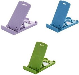 Set Of 2 S4 Small ABS Plastic Mini Mobile Holder Stand For Mobile Tablet (Assorted Colors)