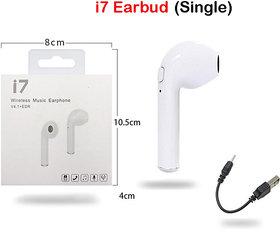 HBQ i7 Single ear In Ear Bluetooth Headset For calling By Sleek
