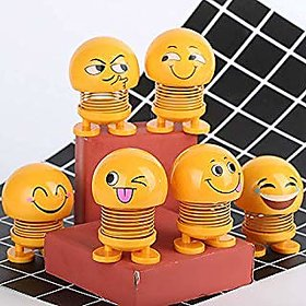 Lazywindow Funny Smiley Face Springs Pack of 5 Assorted Face