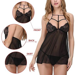 Sexy and Hot Black Exotic Naughty Night Dress for Girls (Be Naughty in your Bed)