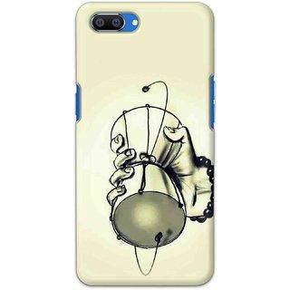 Digimate Hard Matte Printed Designer Cover Case Fo Oppo Realme C1 - 0504