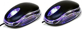 Lazywindow Pack of 2 USB Optical Wired Mouses