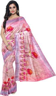 Adezdu Digital Print Daily Wear Cotton Linen Blend Saree