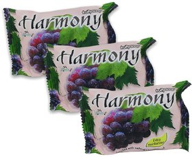 Harmony Grape Fruity Soap 75g (Pack Of 3)