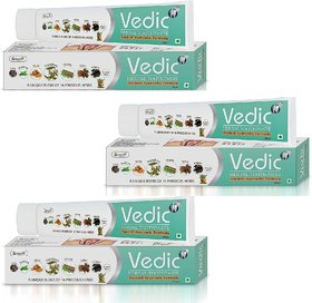 Vringra Herbal Toothpaste Teeth Whitening Toothpaste Neem, Pudina, Babul Extract-Vedic Toothpaste  (Pack Of 3)