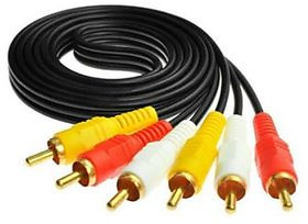 Maxicom TV-out Cable 1.5 Meter 3RCA to 3RCA Gold Plated Both Side Male AV 1.5 m RCA Audio Video Cable